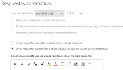 Enviar respuestas automáticas de correo [nuevo Outlook]