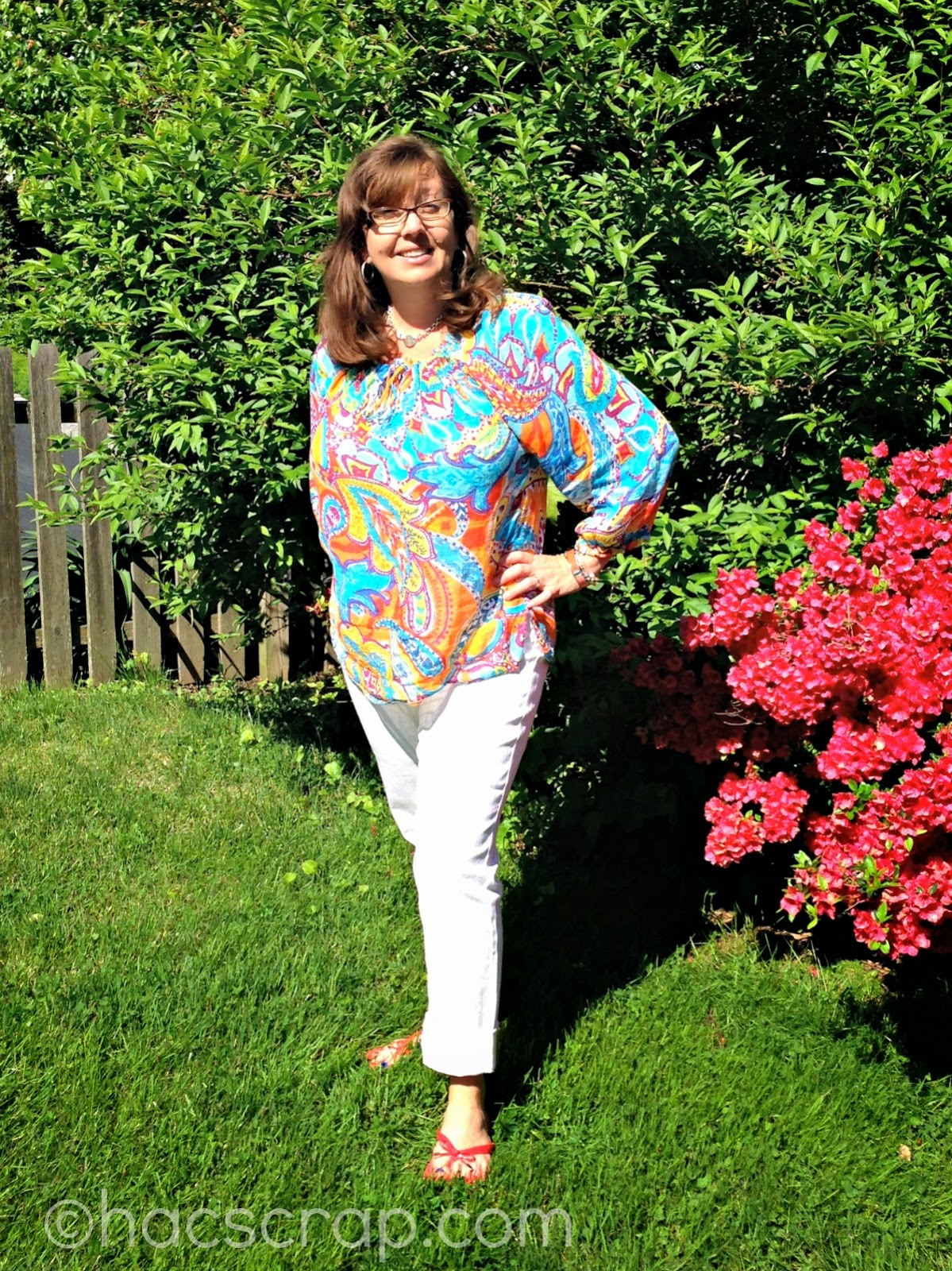 Mid-life Mom Style for White Jeans
