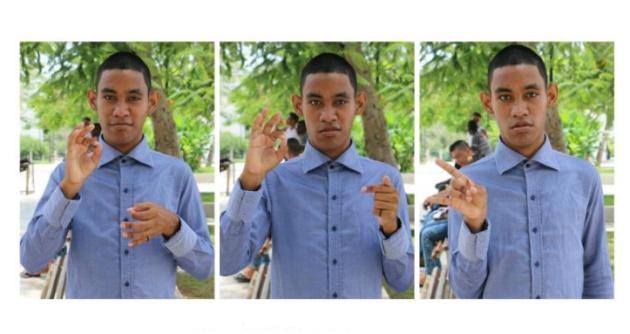 Estudiante sordo creó un glosario de señas con 100 términos de biología