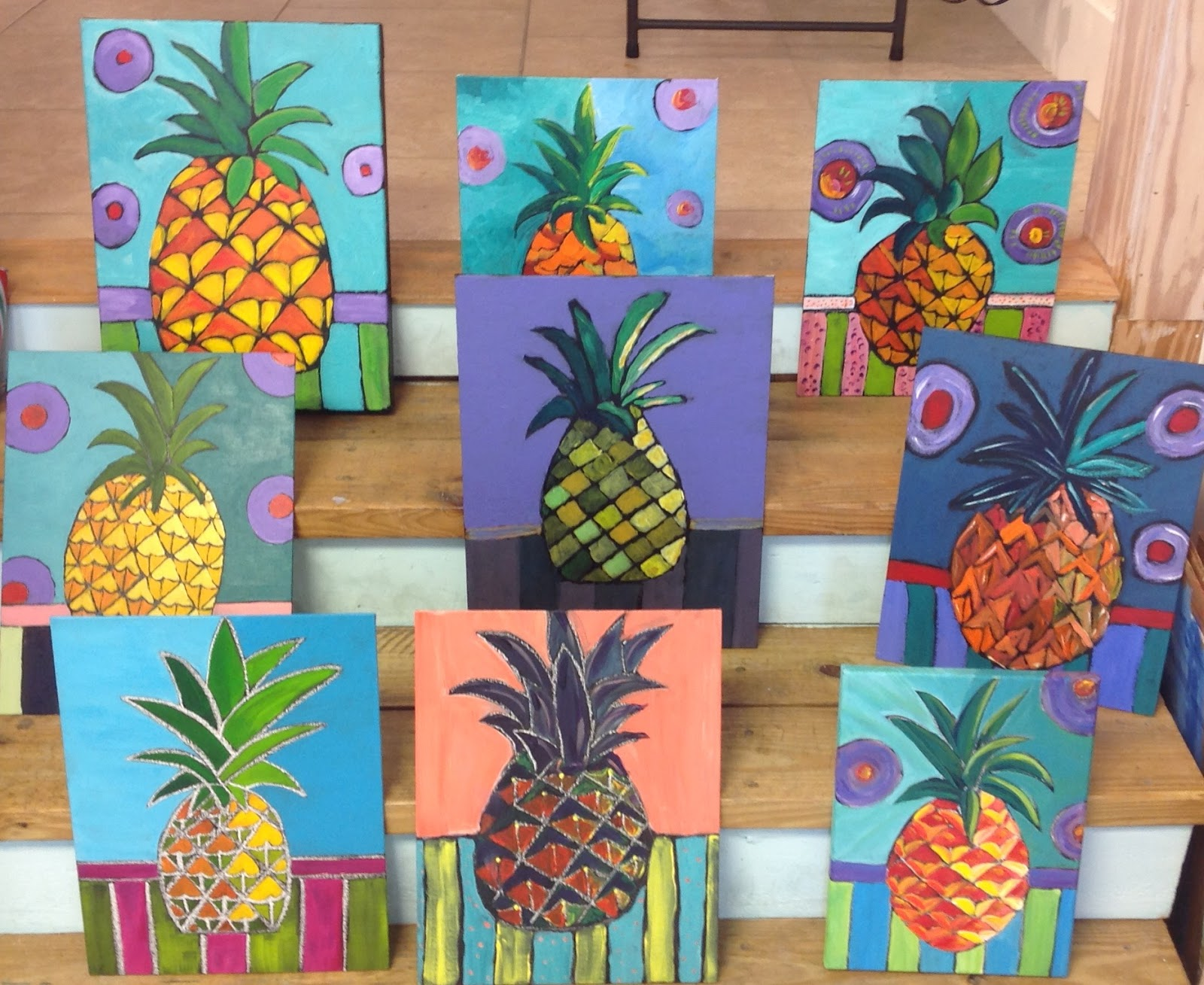 Maggie ruley island inspirations welcome spring a wonderful group of pineapples i love the variety they got biocorpaavc Gallery
