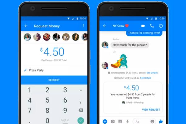 """فيسبوك تطلق ميزة """"الدفع الجماعي"""" على تطبيقها فيسبوك مسنجر"""