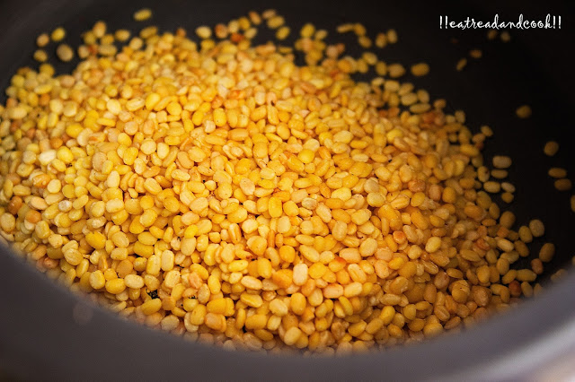 how to cook Simple Bhaja Muger Dal recipe / Simple Dry Roasted Moong Dal recipe