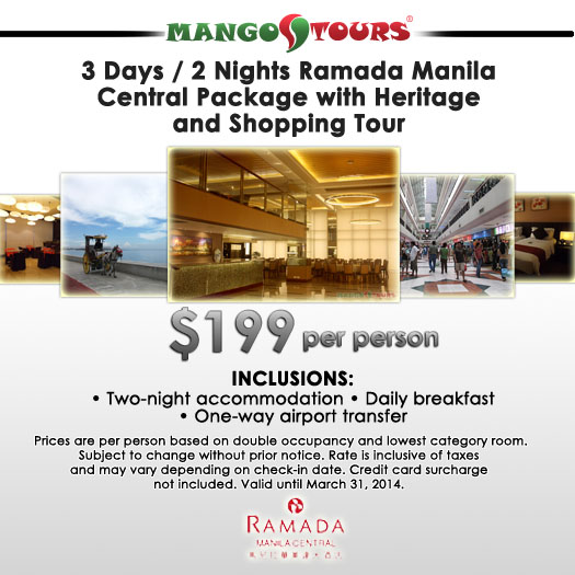 Mango Tours Ramada Manila Central Package