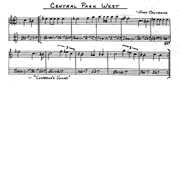 Partitura Saxofón John Coltrane