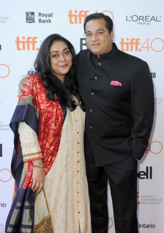 Meghna Gulzar with husband