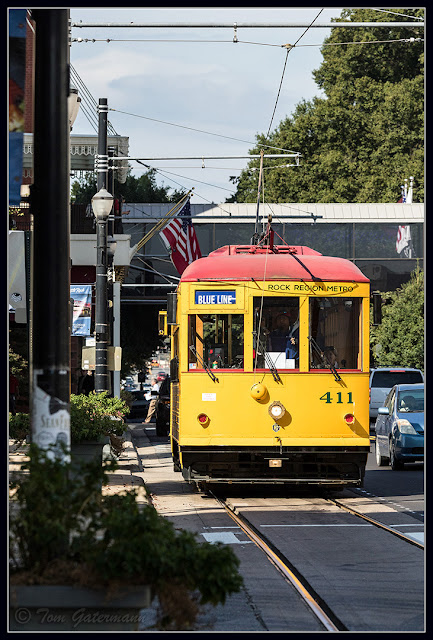 Little Rock Metro Streetcar 411 on Markham Street.