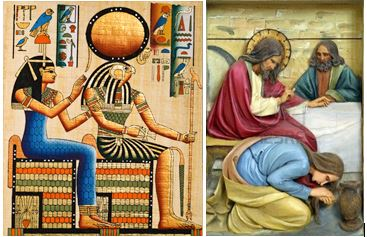 Hathor and Horus/Jesus and Mary Magdalene