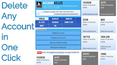 Best way to delete any account in one click, you must read..