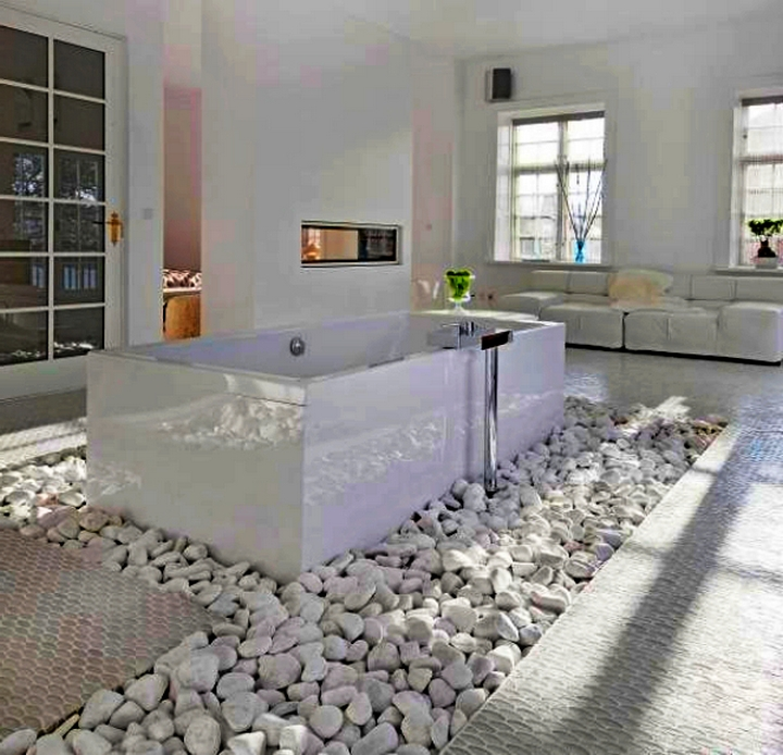 Good Amazing White Rectangle Modern Wall Glass Pebble Stone Tile Bathroom Ideas  Stained Ideas Part 23