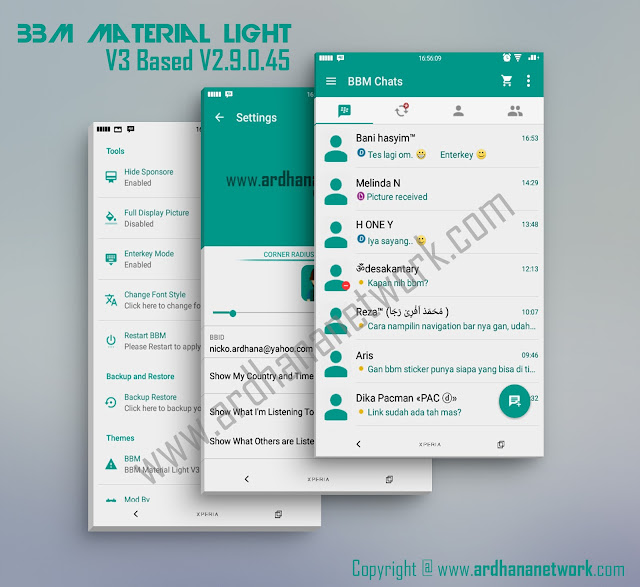 BBM Material Light V3 - Stylish and Minimalist