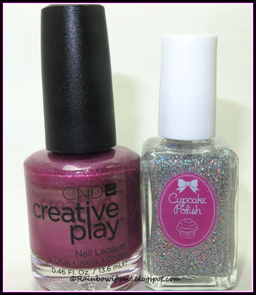 CND Creative Play: RSVPlum and Cupcake Polish: Sprinkles
