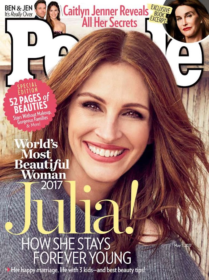 Julia Roberts Is PEOPLE's 2017 World's Most Beautiful Woman!