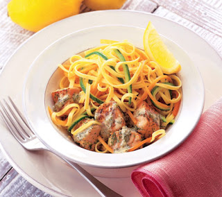 linguine with pan-fried salmon recipe