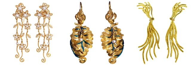 nne-of-a-kind gold earrings