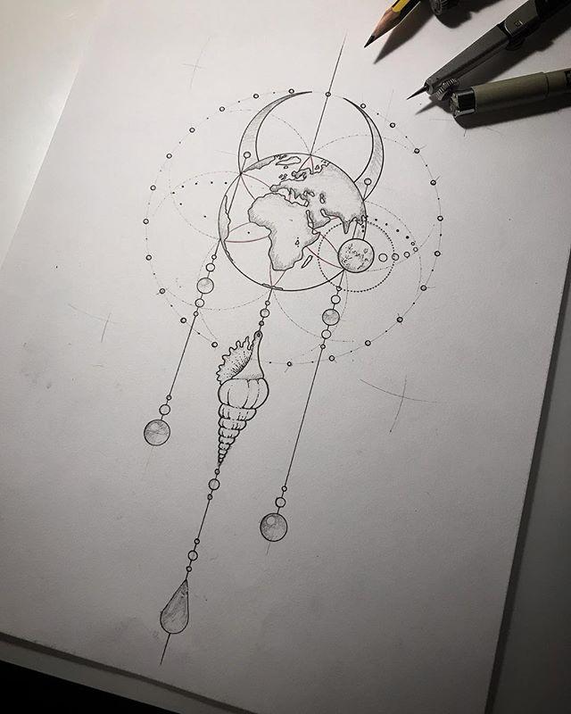earth tattoo drawing ideas