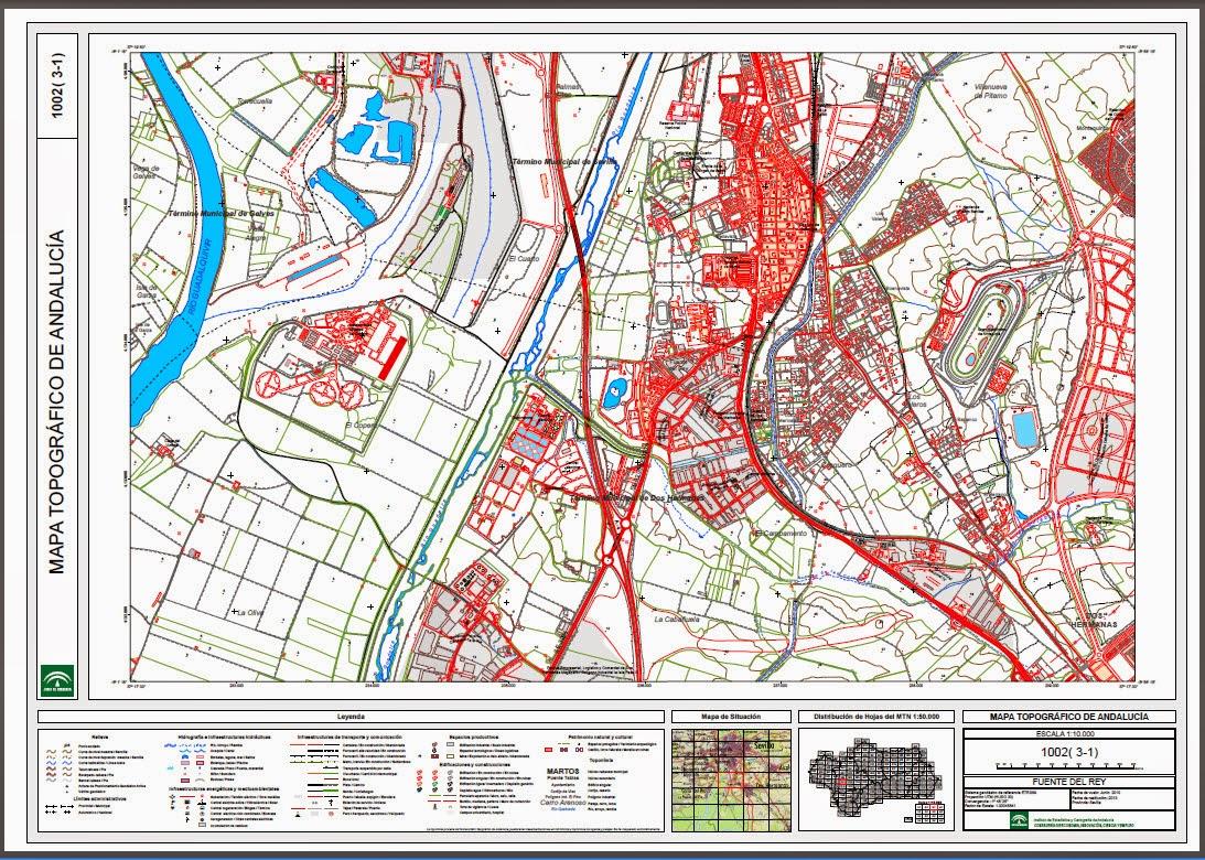 Cartografa Digital Base Cartogrfica de Andaluca 2014
