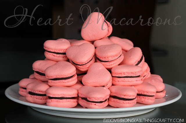 Heart Shaped Macaroons and Recipe for Valentines Day