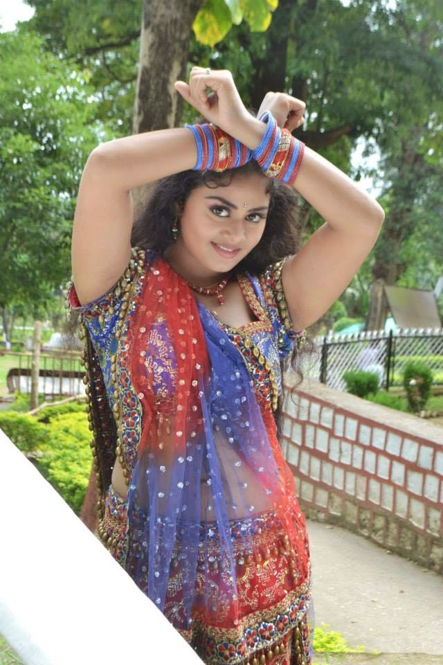 Bhojpuri  Actress Tanushree chatterjee in Pink Sharee HD Wallpapers