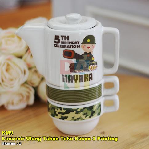 Souvenir Ulang Tahun Teko Susun 3 Printing