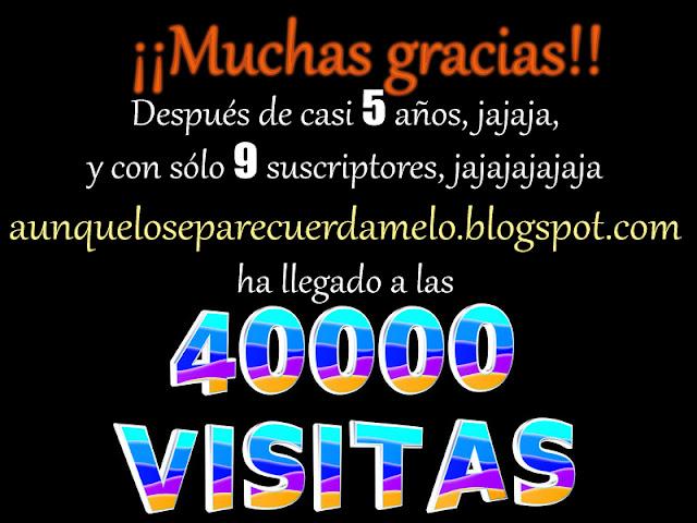 cartel agradeciendo las 40000 visitas al blog