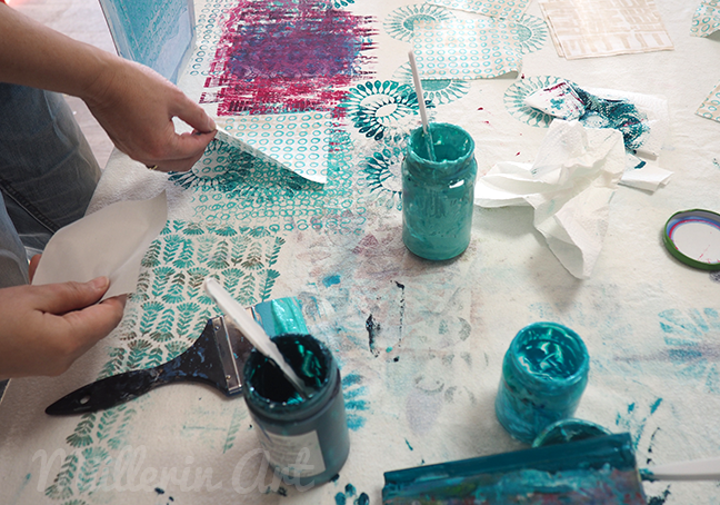 Siebdruck, Stoffdruck, lalala patchwork ©muellerinart