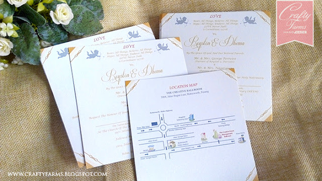 Gold and White Themed Wedding Card Printing, Kad Kahwin cetak
