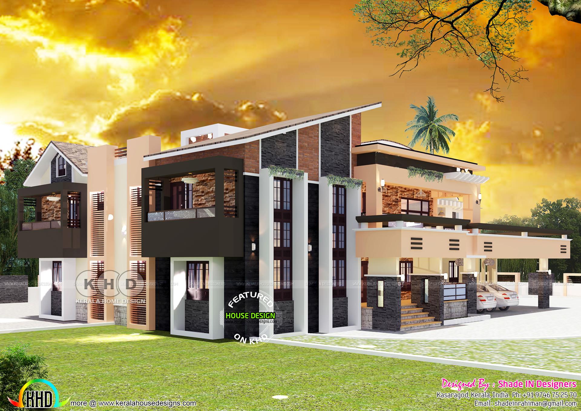 Ultra modern contemporary style 5 bedroom house - Kerala ...