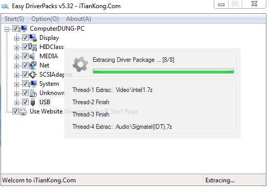 phần mềm tự động cài driver mới nhất cho window 7