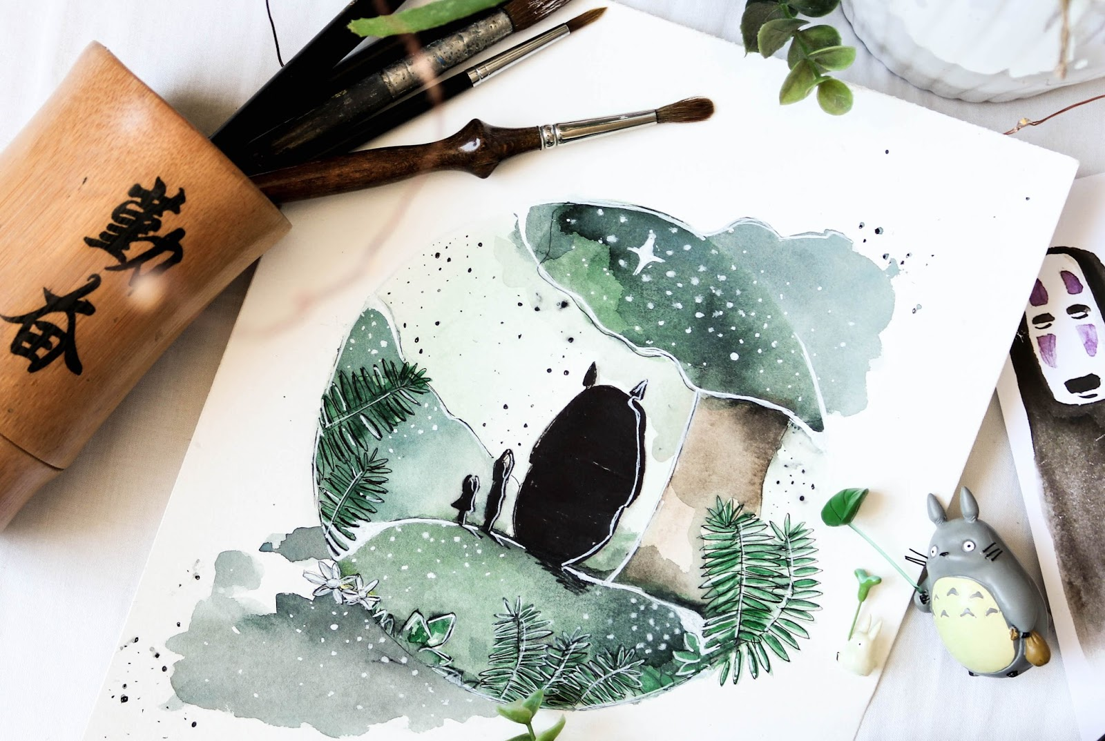Aquarelle Mon Voisin Totoro
