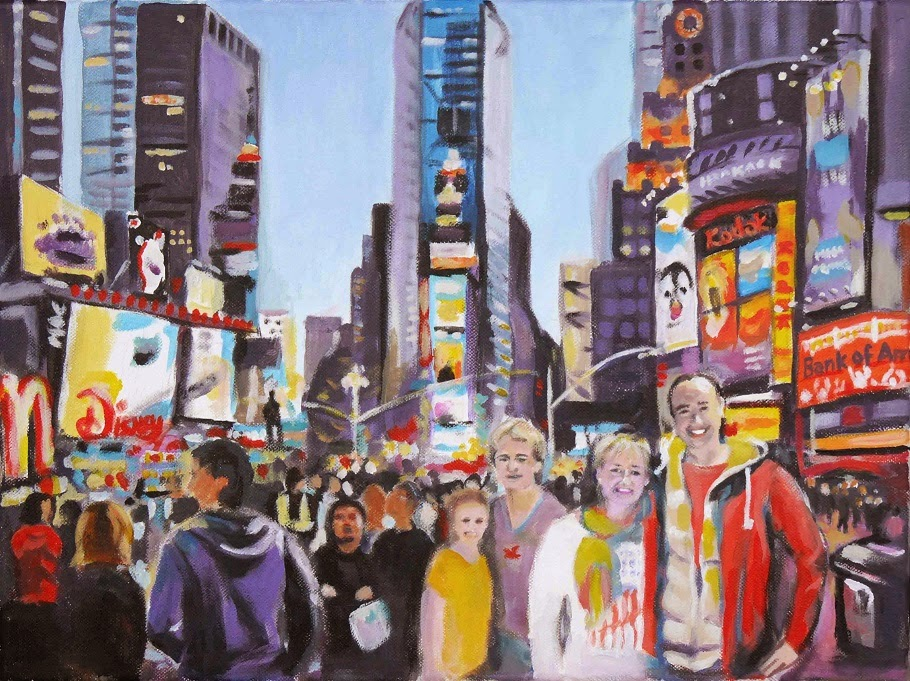 NY Times Square Judith Reiter malerei Muenchen