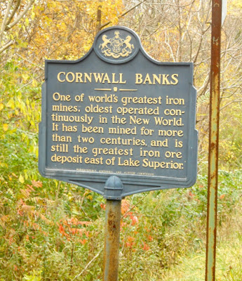 Cornwall Banks Historical Marker in Cornwall Pennsylvania