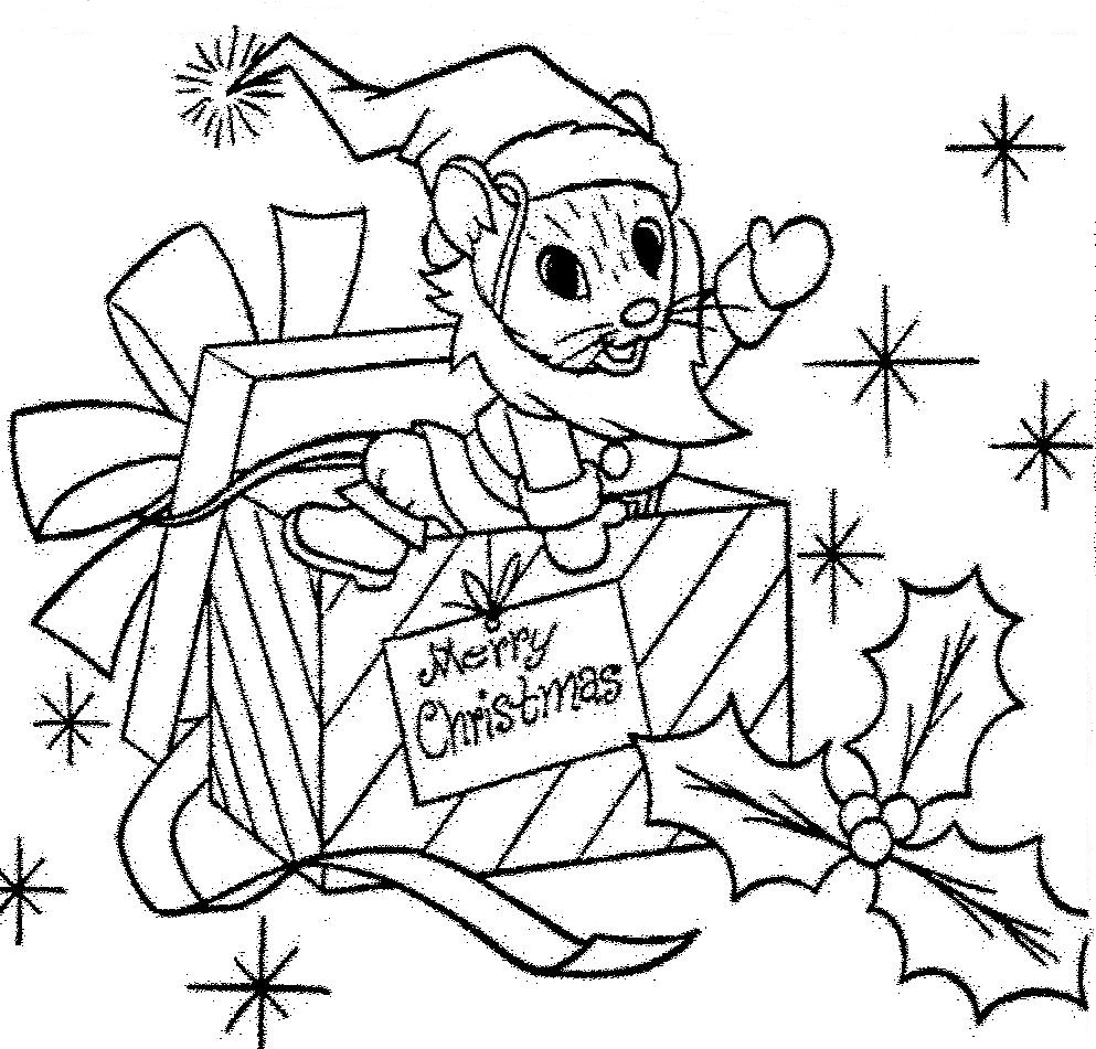 Mostly Paper Dolls: SANTA MOUSE Coloring Contest from