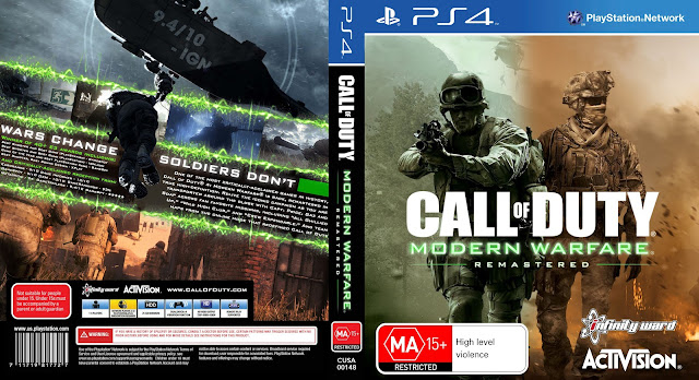 Capa Call Of Duty Modern Warfare Remastered PS4