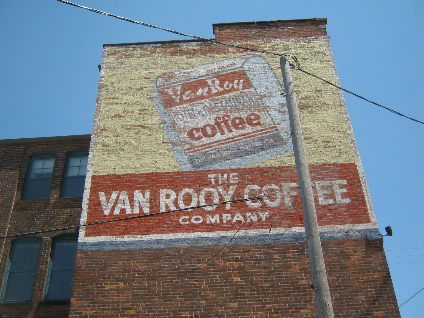 There Used To Be Another Memorable Van Roy Coffee Sign On This Same Side Of The Building But At Northern End Closest Sway