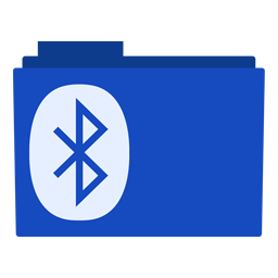 Preview of bluetooth, blue color, background, folder icon