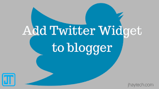 Twitter gadget on blogger