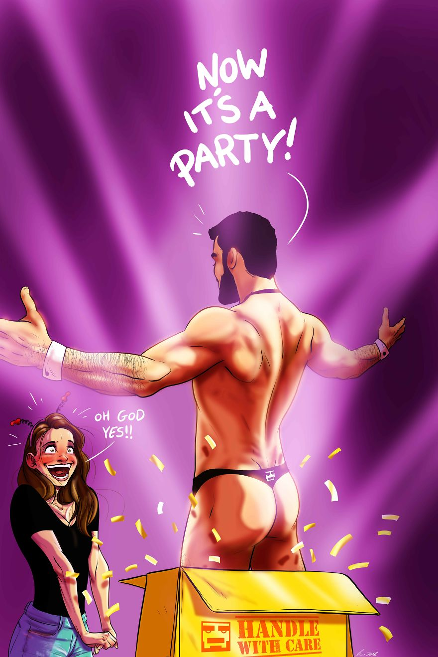 Man Draws Funny Comics Illustrating Everyday Life With His Partner - My Mush Bachelorette Party!