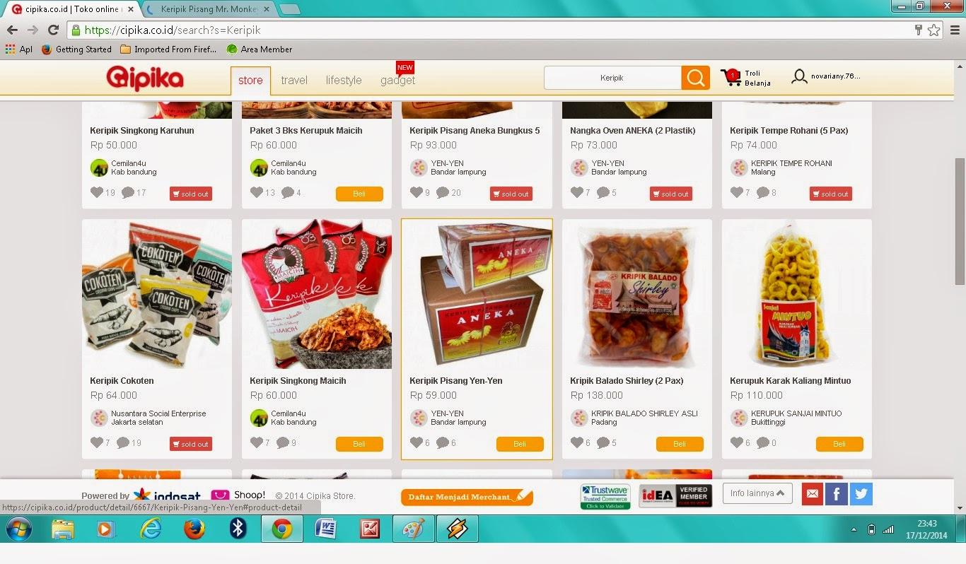 Cipika.co.id Cara order makanan khas