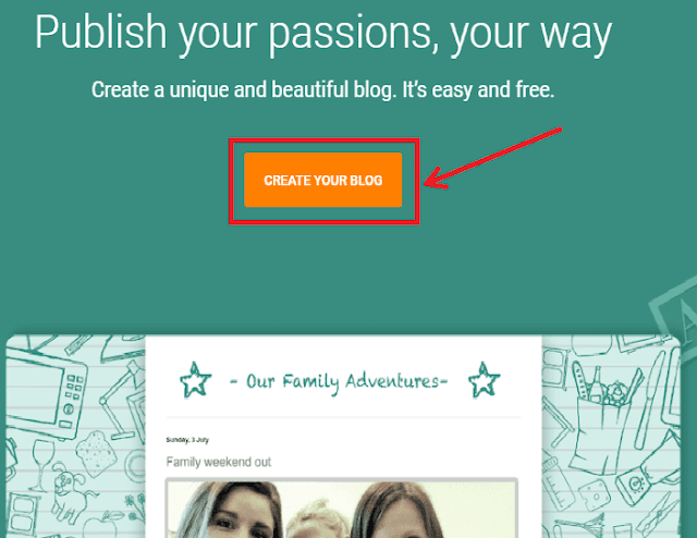 Create a Blogger Blog- Step 1