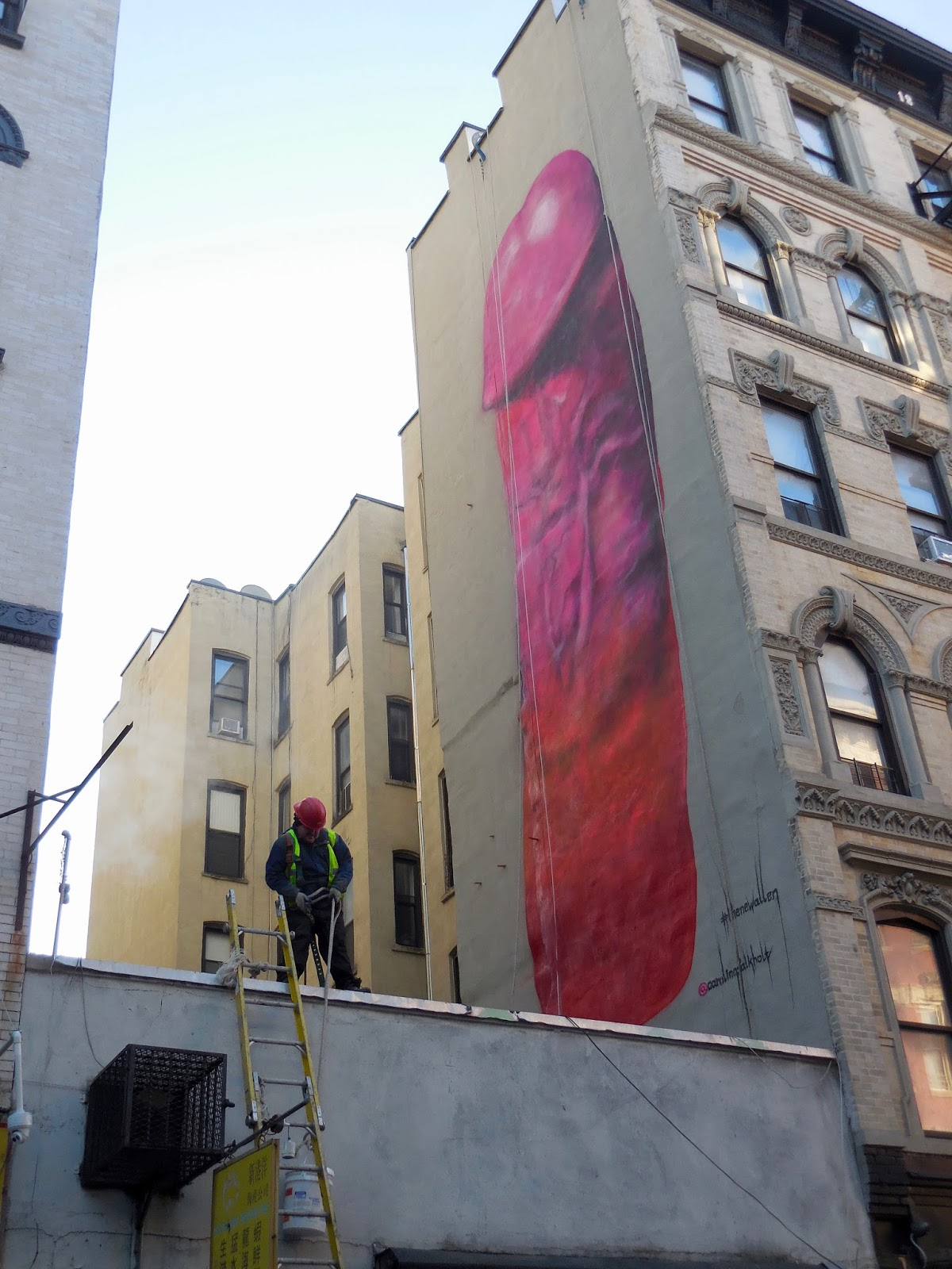Jeremiah 39 s vanishing new york that big penis for Mural on broome street