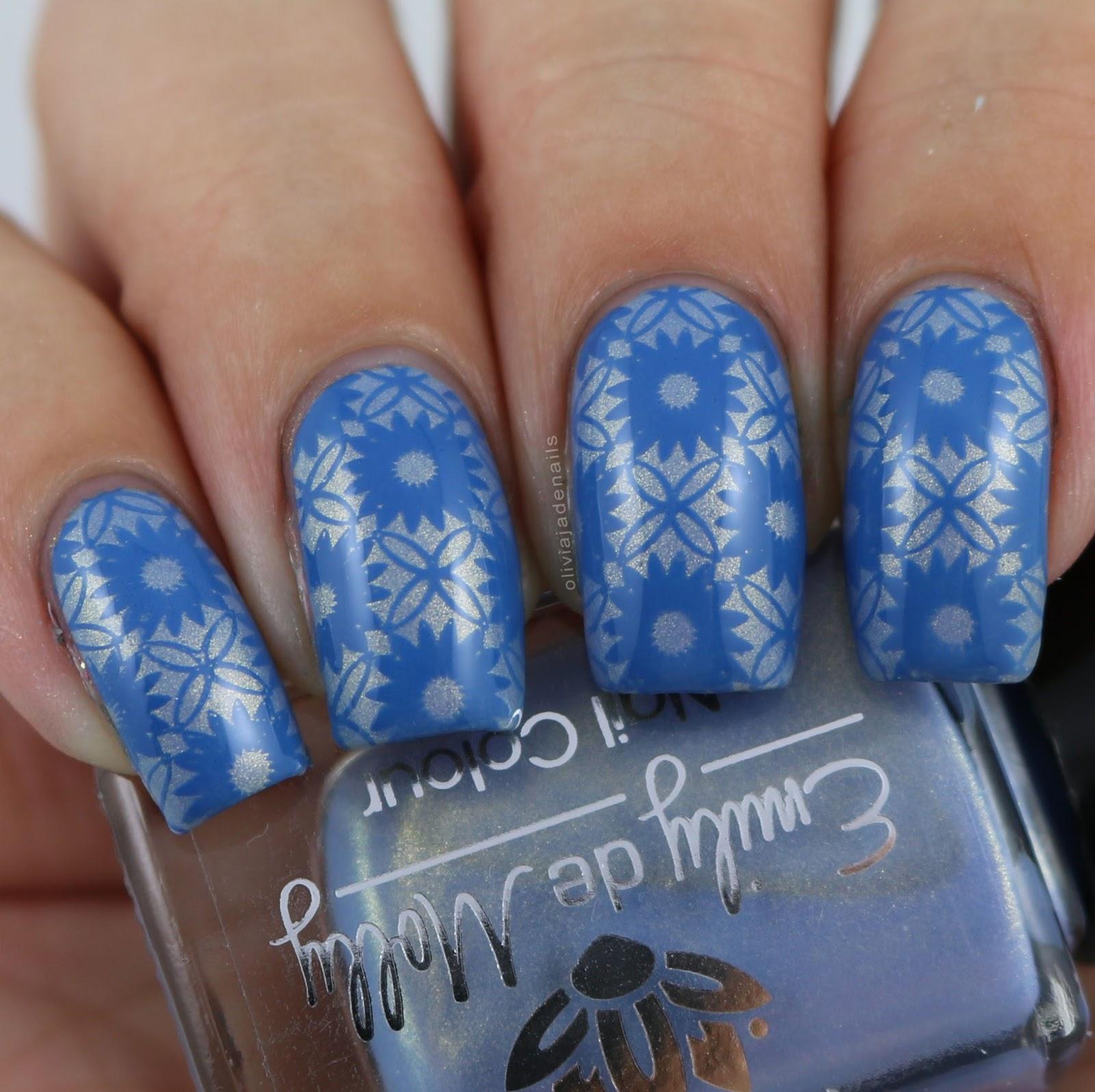 Olivia jade nails crumpets nail tarts 26 great nail art ideas blue floral prinsesfo Choice Image