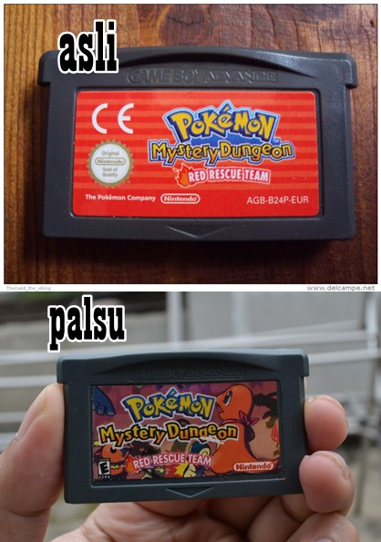 cartridge game pokemon asli dan palsu