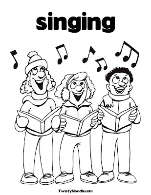 child singing coloring pages - photo#17