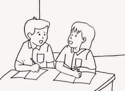 Ilustrasi Dialog Kalimat Langsing dan Tidak Langsung