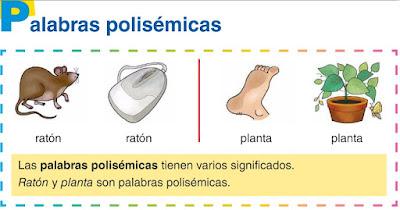 Resultado de imagen de PALABRAS POLISEMICAS