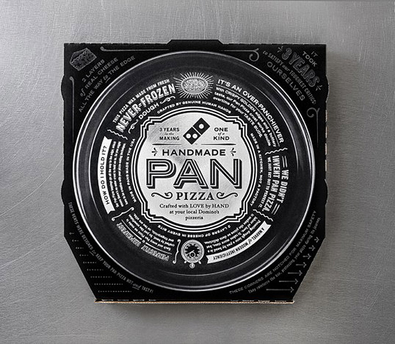 new pizza box for dominos pan pizza