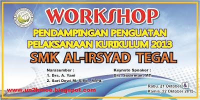 Desain Banner In House Training CDR | Download Baner Workshop Kurikulum 2013 Gratis