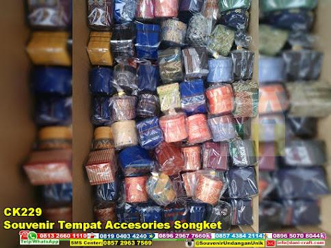 jual Souvenir Tempat Accesories Songket