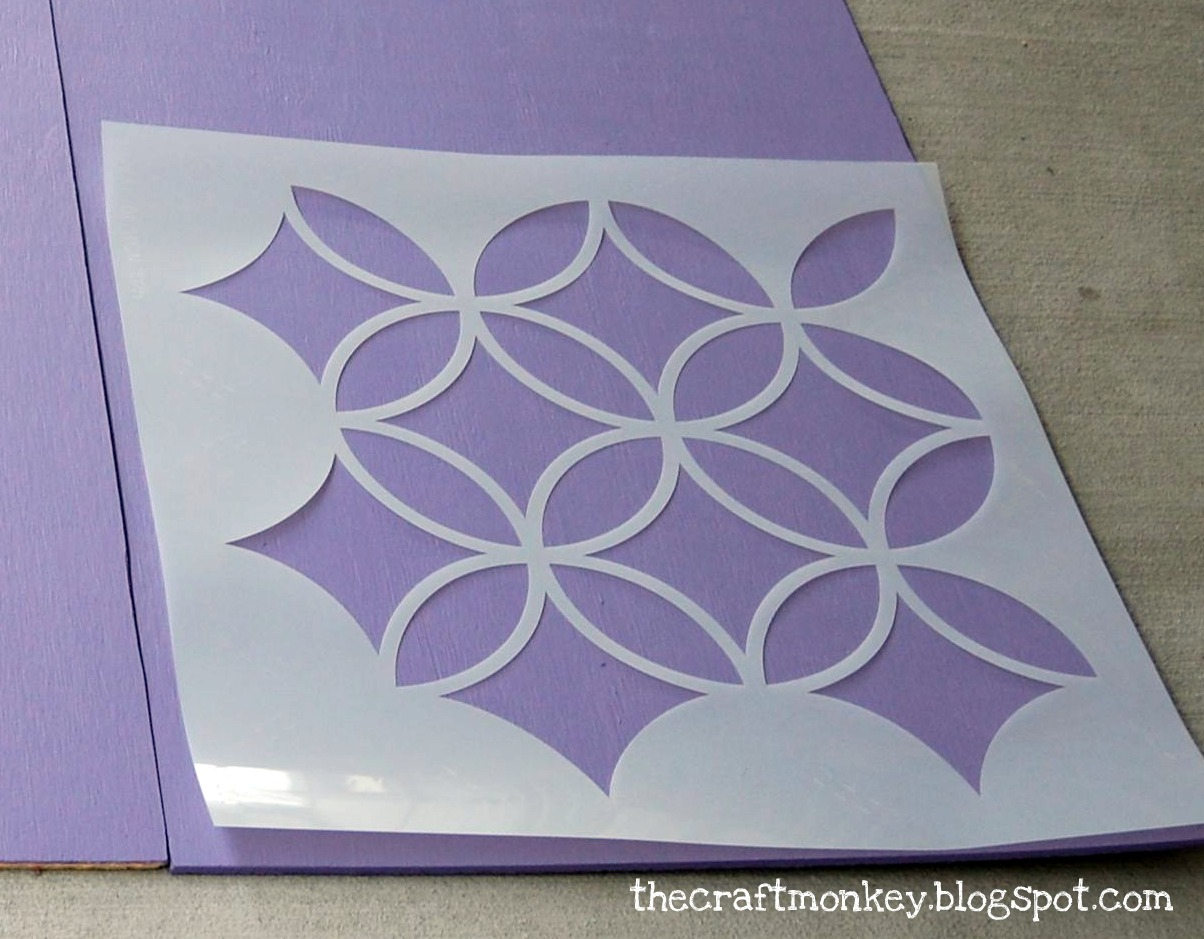 Simple Wall Designs Stencils Diy Craft How To Make Stenciled Headboard Art With Royal