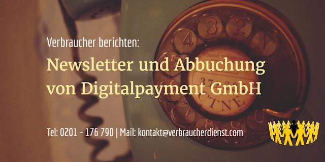Titelbild: Newsletter und Abbuchung von Digitalpayment GmbH